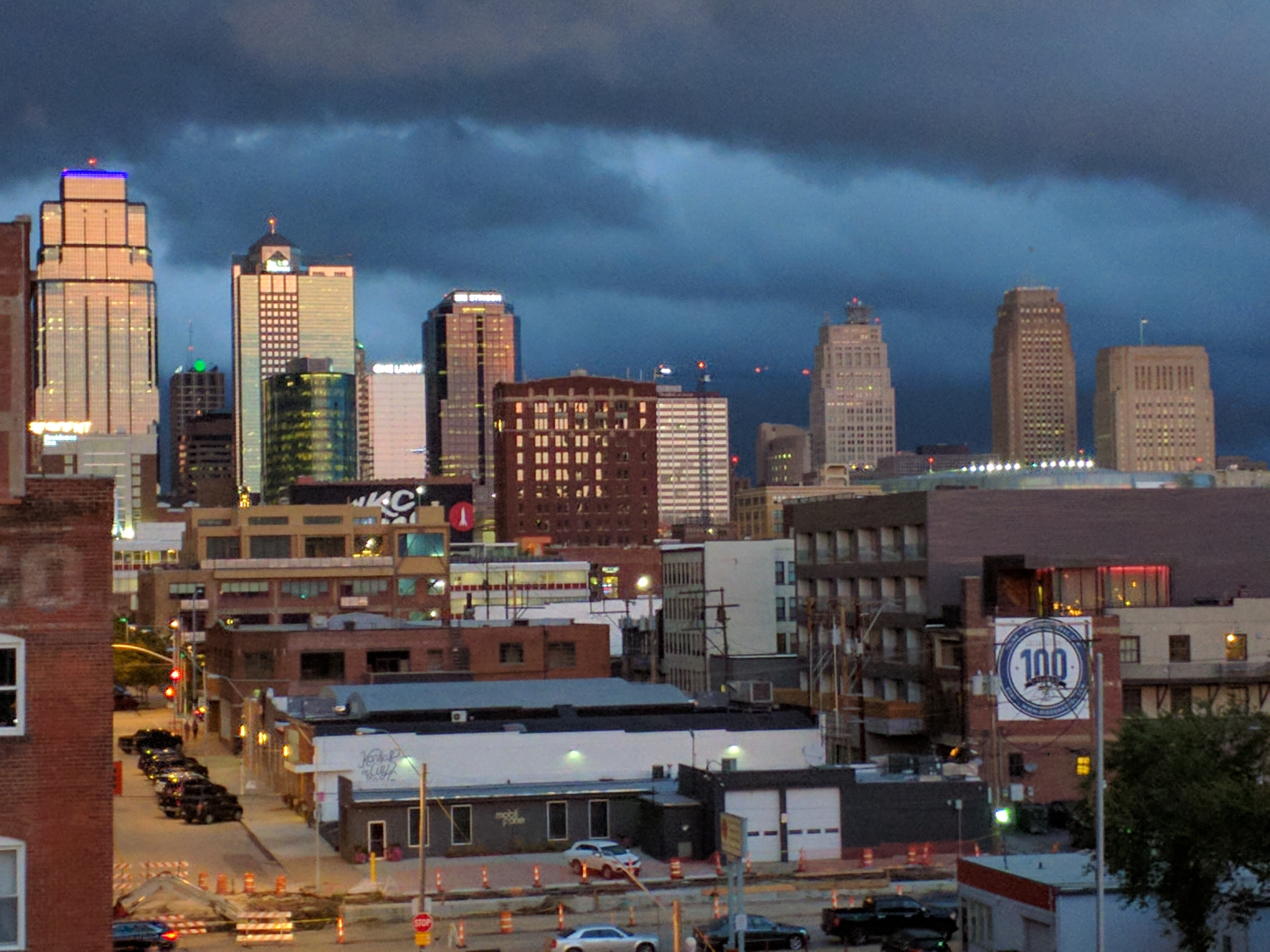 Downtown KC before the storm